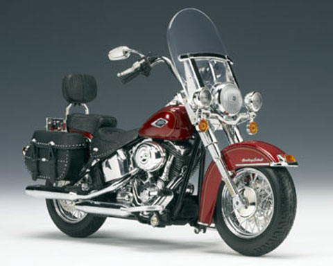 2009 H-D Heritage Softail® Classic Red Hot Sunglo