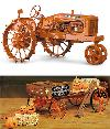 Allis-Chalmers Steel Wheel Tractor/Hayride Wagon C