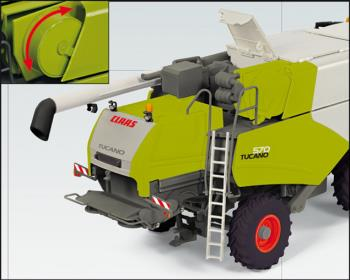 Claas Tucano 570 combine with V 930 grain mower at-1