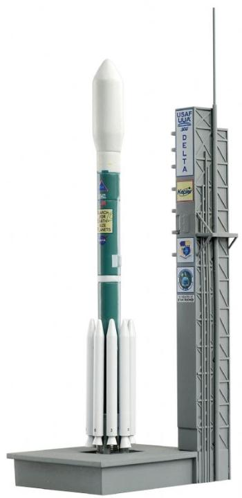 Delta II Rocket with launch pad-0