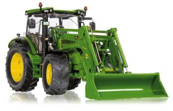 John Deere 6125R mit Frontlader  - with front load