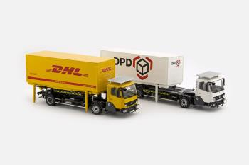 KAMAG Wiesel Yellow with DHL Container-0