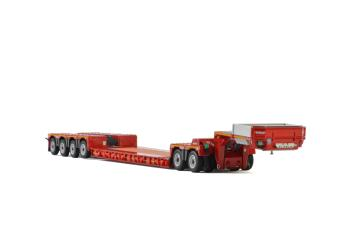 KNT Red Line; LOWLOADER 4 AXLE + DOLLY 2 AXLE