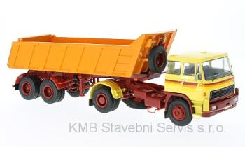 LIAZ 100 dump , yellow / orange