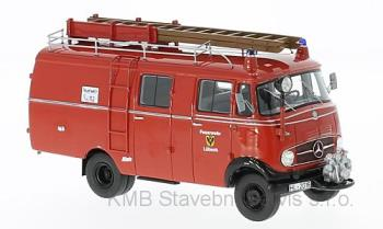 Mercedes L319, fire brigade Luebeck box wagon 1:43