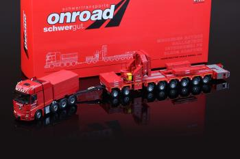 OnRoad Mercedes-Benz Actros GigaSpace 8x4 with Ballastbox with Scheuerle Intercombi PB with Wing Ada-1