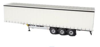 Pacton curtainsider trailer white