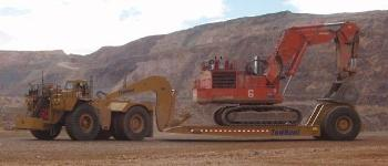 CAT 784C Tractor with Towhaul Trailer-4