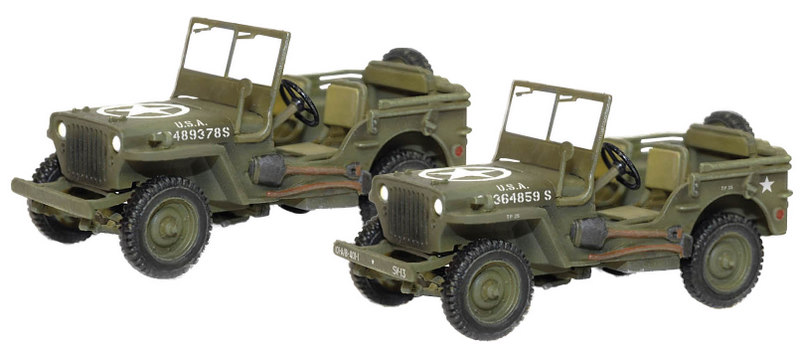 US Willys Jeep 4x4 1 Ton Trucks France 1944 - 2 p